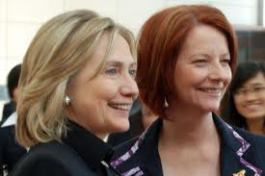 Image of Julia Gillard and Hillary Clinton